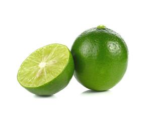 lemon, lime isolated on white