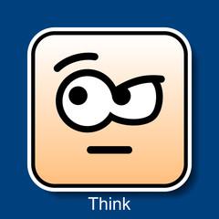 Emoticon Think