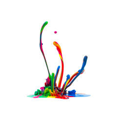Colorful paint splash isolated on white