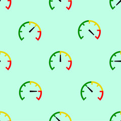 seamless pattern with speed meter
