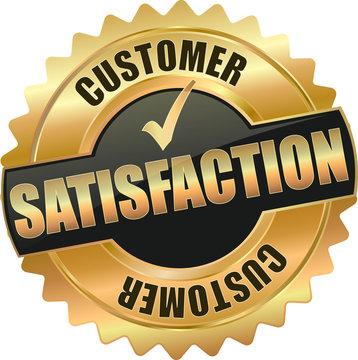 golden customer satisfaction sign