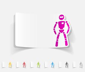 realistic design element. robot