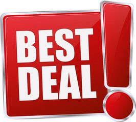 red best deal sign