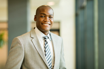 young african american businessman closeup portrait