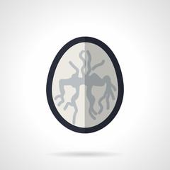 MRI of brain flat vector icon
