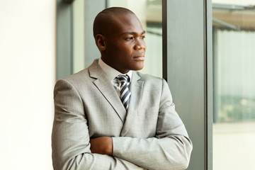 thoughtful young african businessman