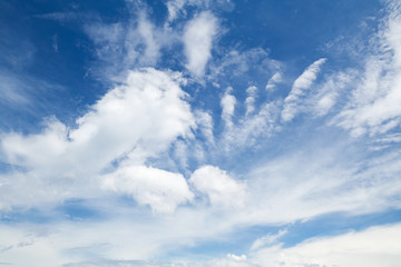 Blue sky with different types of clouds