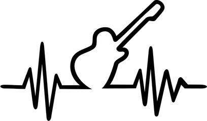 Electric guitar cardiac frequence