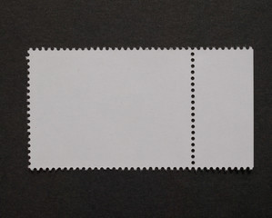 Stamp isolated