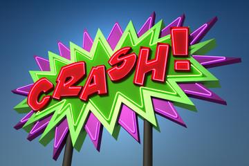 CRASH! Sound Effect Neon Sign