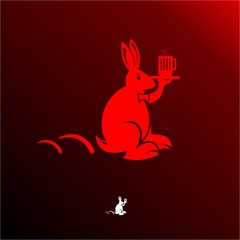 red and fat bunny