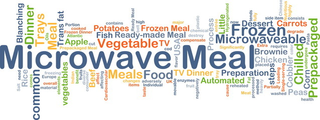 Microwave meal background concept