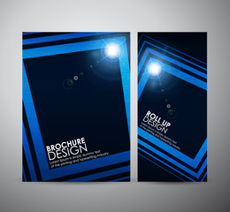 Abstract square frame background brochure business design template or roll up. Vector illustration