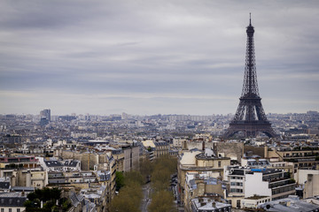 The 'Eiffel Tower' from the top of the 'Arc de Triomphe'