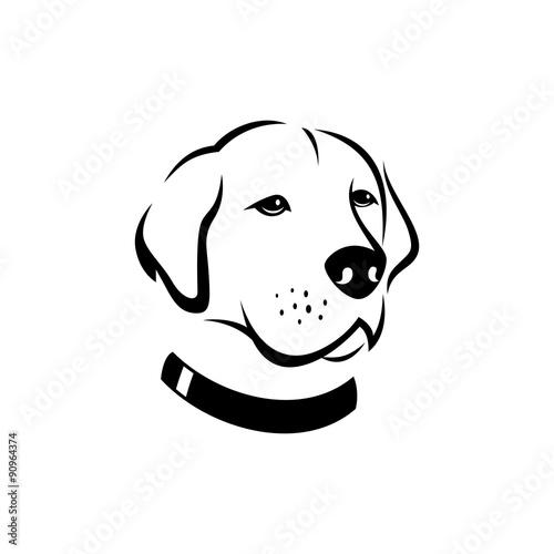 Dogs Face Silhouette Logo Template