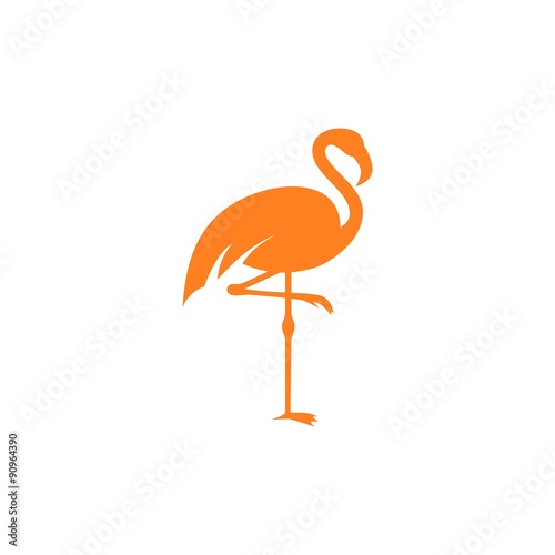 Flamingo logo template stock image and royalty free vector files flamingo logo template pronofoot35fo Images