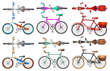 Different kind of bicycles