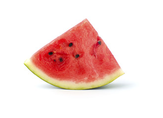 Slice of watermelon on a white background..