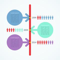 Modern timeline infographics design template