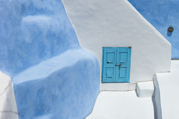 Architecture on the island of Santorini Greece