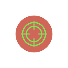 Flat web icon of crosshair