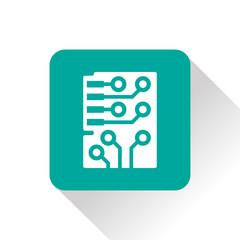 Web icon of microchip, vector design