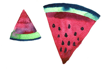 Watercolor water melon