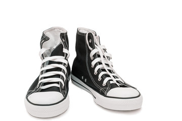Athletic shoes - men's sneakers on a white background.