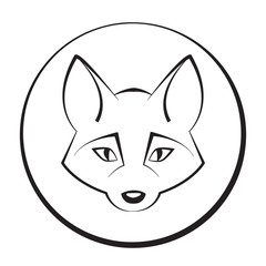 Animal head 5. Vector illustration. Fox