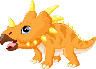 Cute triceratops cartoon