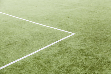 Lines on a football field