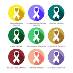 Cancer Ribbon Icons #2