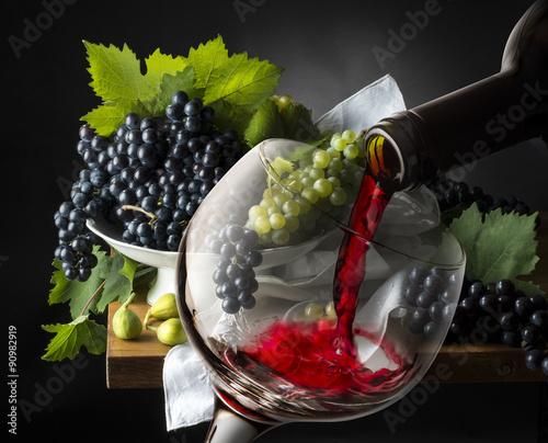 Вино, бокал виноград скачать