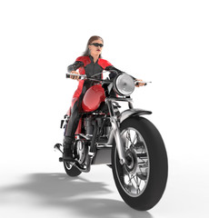 woman riding on motorbike