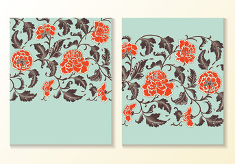 Flower Vector Background Card Template