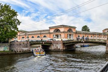 Saint-Petersburg, The Moika river embankment, Russia