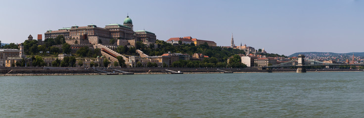 Buda castle in Budapest Hungary