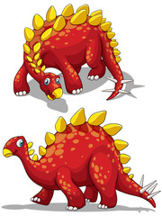 Dinosaur in red color