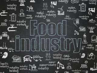 Manufacuring concept: Food Industry on School Board background