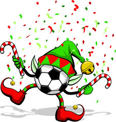 Soccer ball or Football Christmas Elf