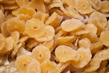 tranches d' ananas séché texture
