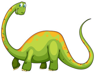 Dinosaur with long neck and tail