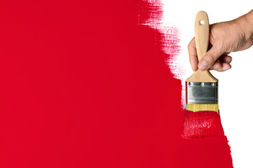Painting Red Wall