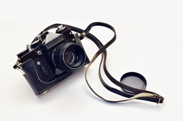 Old photo camera. 