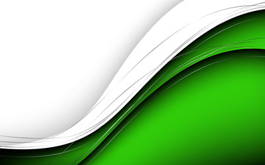 Stylish abstract green background. Vector Illustration Wall mural