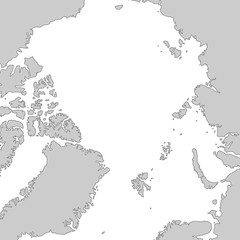 Nordpol in Grau