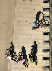 four cyclistst