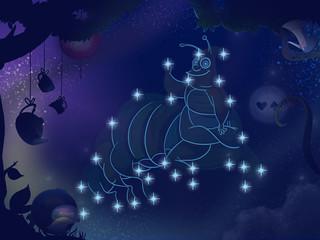 Kids Book Illustration. Star Constellation.