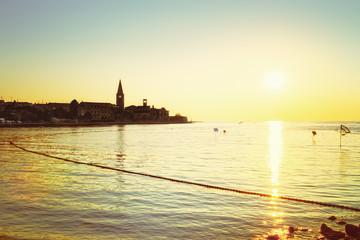 Porec, Croatia at sunset