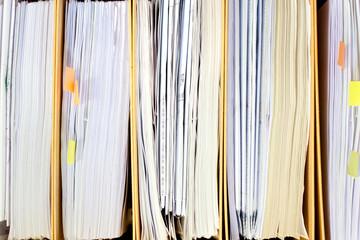 File Stack, file folder close up for background.